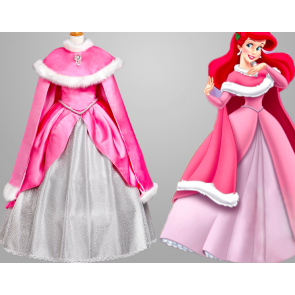 The Little Mermaid Dress Cosplay Costume With Cape