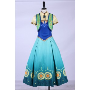 Frozen Fever Anna Birthday Party Cosplay Costume