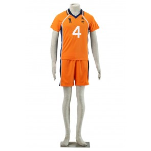 Haikyuu!! Yu Nishinoya Karasuna High School NO. 4 Sports Uniform Cosplay Costume