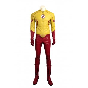 The Flash Season 3 Wally West Kid Flash Cosplay Costume