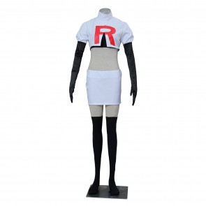 Pokemon Pocket Monster Jessie Cosplay Costume
