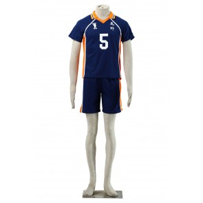 Haikyuu!! Ryunosuke Tanaka Karasuna High School NO. 5 Sports Uniform Cosplay Costume