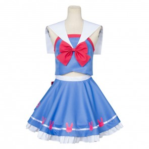 Overwatch D.VA Hana Song Sailor Suit Cosplay Costume