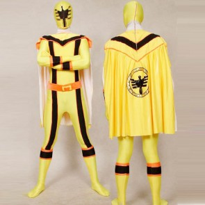 Yellow Power Rangers Mystic Uniform Spandex Zentai Costume
