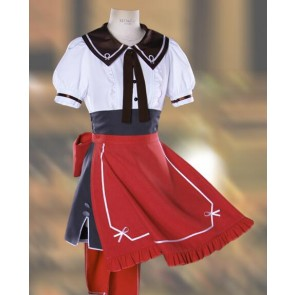 Vocaloid Meiko Cafe Maid Cosplay Costume