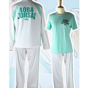 Haikyuu!! Toru Oikawa Aoba Jousai High School Long Sleeves Sports Uniform Cosplay Costume