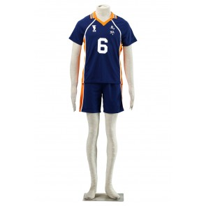 Haikyuu!! Karasuna High School NO. 6 Sports Uniform Cosplay Costume