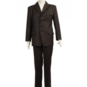 Doctor Who Brown Pinstripe Suit Cosplay Costume