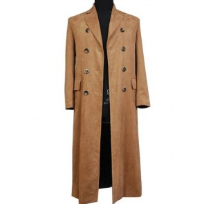 Doctor Who Coffee Long Coat Cosplay Costume
