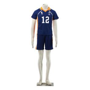 Haikyuu!! Tadashi Yamaguchi Karasuna High School NO. 12 Sports Uniform Cosplay Costume