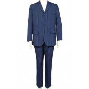Doctor Who Blue Pinstripe Suit Cosplay Costume