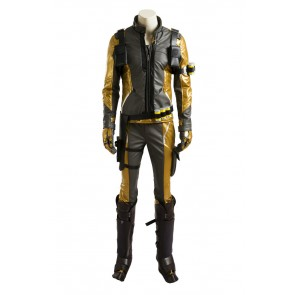 Overwatch Soldier 76 Suit Gold Cosplay Costume