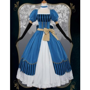 Black Butler Kuroshitsuji Elizabeth Midford Blue Dress Cosplay Costume