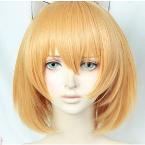 Gold 30cm Kemono Friends Serval Cosplay Wig
