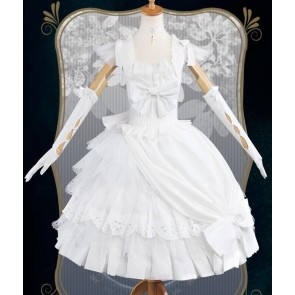 Black Butler Kuroshitsuji Elizabeth Midford White Dress Cosplay Costume