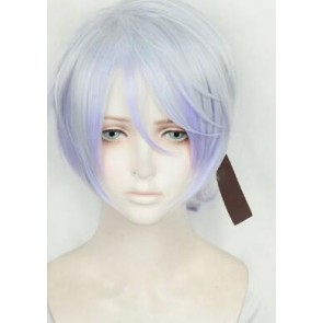Silver And Purple 40cm Sengoku Night Blood Senbura Ranmanru Mori Cosplay Wig
