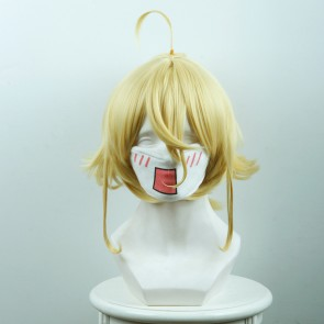 Yellow 32cm Saga of Tanya the Evil Yojo Senki Tanya von Degurechaff Cosplay Wig