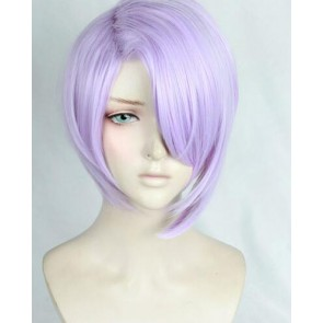 Silver And Purple Sengoku Night Blood Akechi Mitsuhide Cosplay Wig