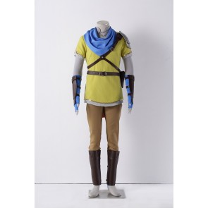 The Legend of Zelda: Hyrule Warriors Link Yellow Cosplay Costume