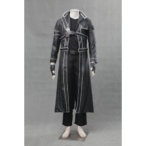 Sword Art Online Kirito Leather Cosplay Costume