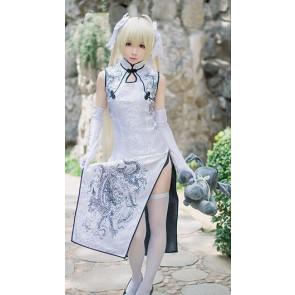 Yosuga No Sora - Kasugano Sora Black Cheongsam Cosplay Costume