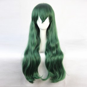 Green 90cm Shimoneta: A Boring World Where the Concept of Dirty Jokes Doesn't Exist Shimoseka Hyouka Fuwa Cosplay Wig