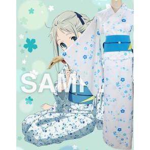 "Anohana: The Flower We Saw That Day Meiko ""Menma"" Honma Kimono Cosplay Costume"