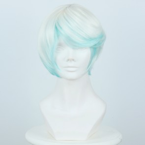 White Blue 35cm Tales of Zestiria the X Mikleo Cosplay Wig