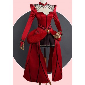 Fate/Grand Order Rin Tosaka Red Cosplay Costume