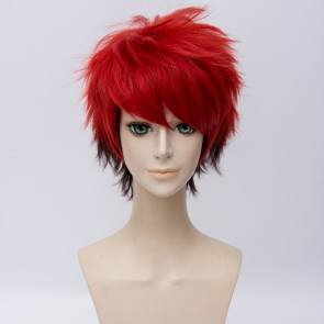 Red and Brown 30cm A3! (Act! Addict! Actors!) Nanao Taichi Cosplay Wig