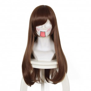 Brown Overwatch D.Va Hana Song Cosplay Wig