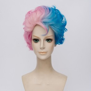 30cm Suicide Squad Harley Quinn Male Version Cosplay Wig