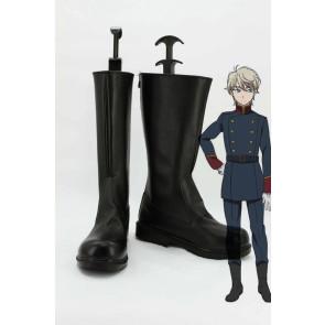 Aldnoah.Zero Slaine Troyard Black Cosplay Boots