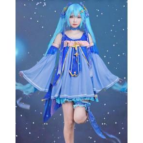Vocaloid 2017 Snow Miku Cosplay Costume