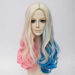 55cm Suicide Squad Harley Quinn Cosplay Wig