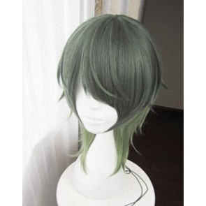 Green 45cm Tsukiuta. The Animation Minaduki Rui Cosplay Wig