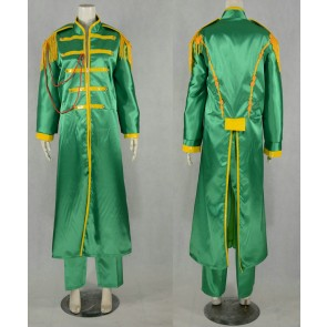 The Beatles Sgt Pepper Lonely Hearts Club Band John Lennon Cosplay Costume (Green)