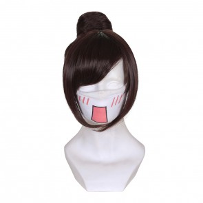 Brown 32cm Overwatch Mei Cosplay Wig