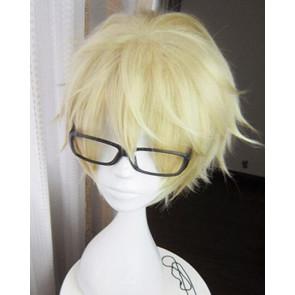 Gold 30cm Tsukiuta. The Animation Yayoi Haru Cosplay Wig