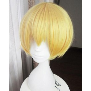 Gold 30cm Tsukiuta. The Animation Shiwasu Kakeru Cosplay Wig