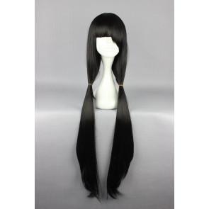 Black 100cm Date A Live Kurumi Tokisaki Cosplay Wig