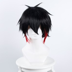 Black Red 35cm Nanbaka Detentionhouse Jyugo No. 15 Cosplay Wig