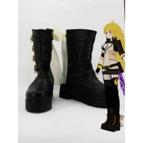 RWBY Season 2 Yellow Trailer Yang Xiao Long Black Cosplay Boots