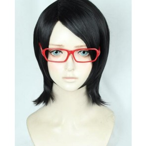 Black 35cm Boruto: Naruto the Movie Sarada Uchiha Cosplay Wig