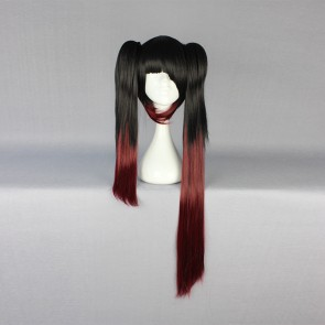 Black and Red 80cm Date A Live Kurumi Tokisaki Cosplay Wig