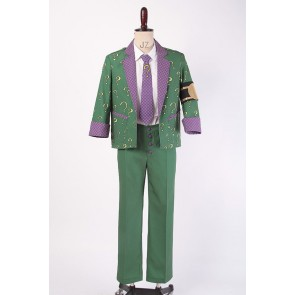 Batman: Arkham City The Riddler Edward Nigma Cosplay Costume