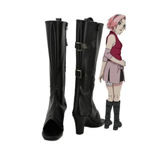 Naruto Haruno Sakura Cosplay Boots