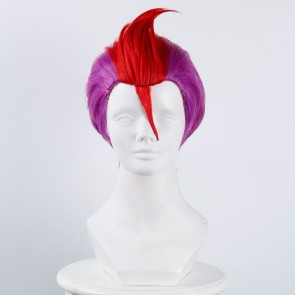Purple Red 30cm Nanbaka Detentionhouse Rock No. 69 Cosplay Wig