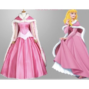 Sleeping Beauty Princess Aurora Dress Cosplay Costume With Cape