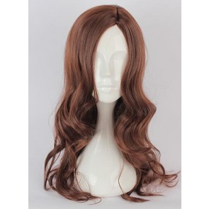 Brown 60cm Wonder Woman Cosplay Wig